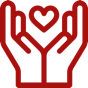 Hands surrounding heart - nonprofit engaging donor